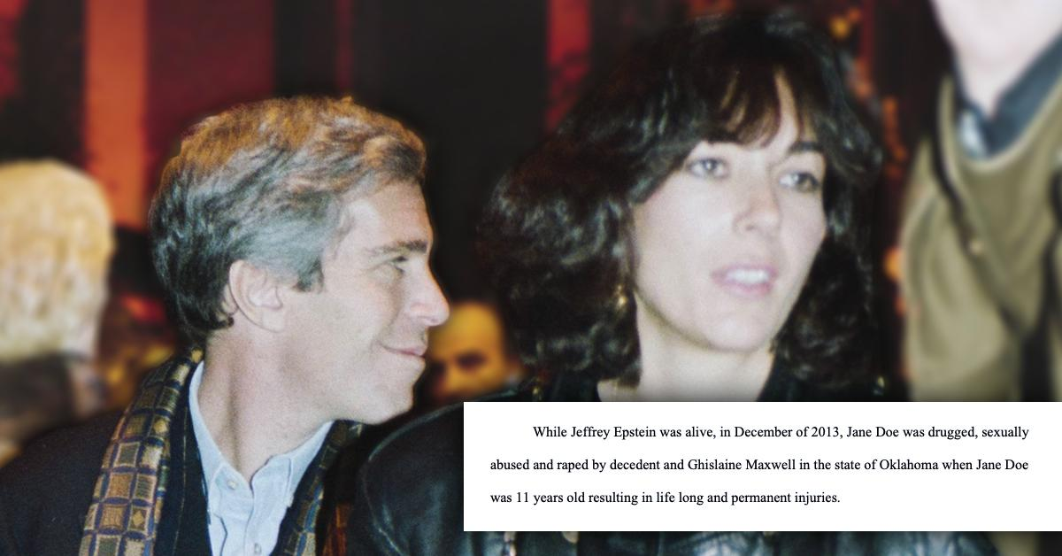 jeffrey epstein ghislaine maxwell accused of raping girl  new court docs fpd