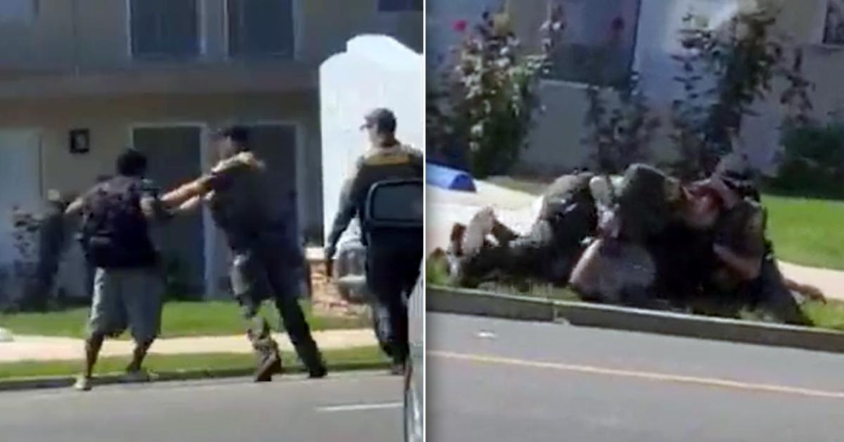 ca officer shooting video jaywalking video fpd